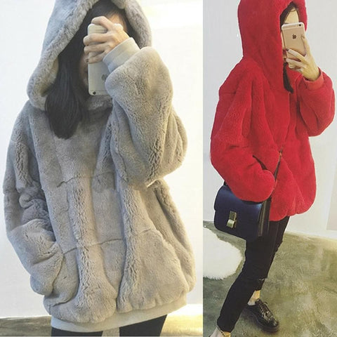 S-XL 4 Colors Fluffly Comfy Hoodie Jumper SP178680