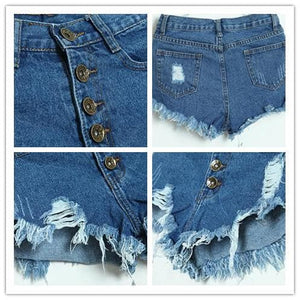 S-XL 7 Colors Candy Hot Shorts Hole Jean Shorts SP152160 - SpreePicky  - 2