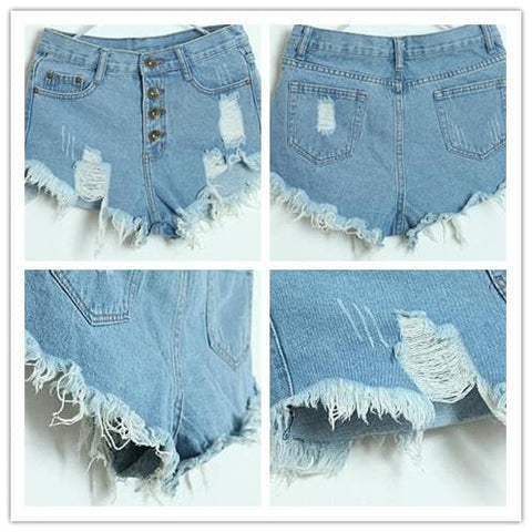 S-XL 7 Colors Candy Hot Shorts Hole Jean Shorts SP152160 - SpreePicky  - 3