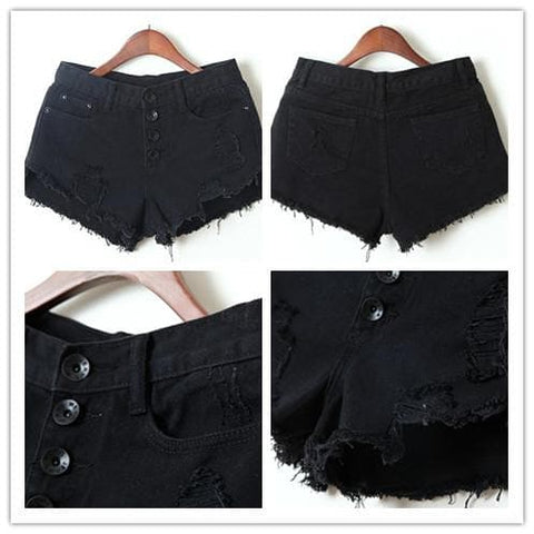 S-XL 7 Colors Candy Hot Shorts Hole Jean Shorts SP152160 - SpreePicky  - 5