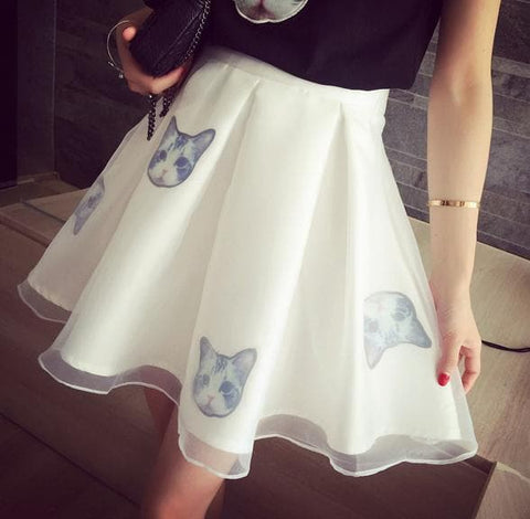 S-XL Black/White Japanese Kitty 2 Piece Dress SP152298 - SpreePicky  - 8