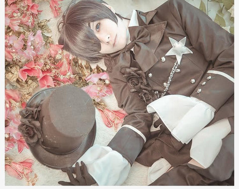 S-XL Black Butler Ciel Phantomhive Cosplay Costume SP168033