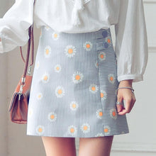 Load image into Gallery viewer, S-XL Pastel Cute Daisy High Waist Skirt SP166394