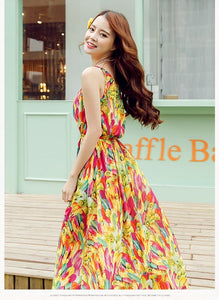 S-XL Fresh Sunset Maxi Dress SP152615 - SpreePicky  - 2