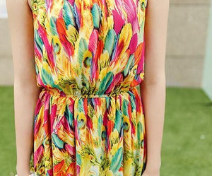 S-XL Fresh Sunset Maxi Dress SP152615 - SpreePicky  - 6