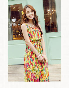 S-XL Fresh Sunset Maxi Dress SP152615 - SpreePicky  - 3