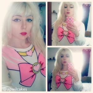 [S-XL]Sailor Chibi Moon Fleece Jumper Top SP141185 - SpreePicky  - 2