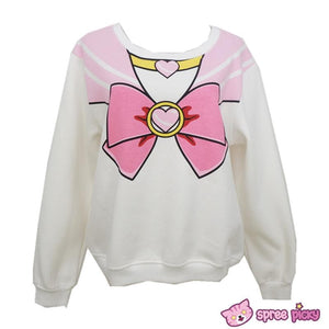 [S-XL]Sailor Chibi Moon Fleece Jumper Top SP141185 - SpreePicky  - 5