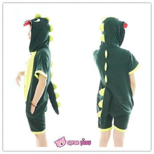 Load image into Gallery viewer, S-XL Unisex Green Dinosaur Animal Summer Onesies Kigurumi Jumpersuit Nightwear Pajamas SP152039 - SpreePicky  - 3