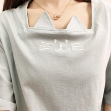 Load image into Gallery viewer, S-XL White/Yellow/Gray Lovely Kitty Cat Pattern T-Shirt SP166706 - SpreePicky FreeShipping