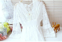 Load image into Gallery viewer, S-XL White Elegant Lace Long Sleeve Dress SP166690 Kawaii Aesthetic Fashion - SpreePicky