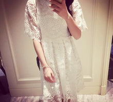 Load image into Gallery viewer, S-XL White Princess Lace Dress SP166378