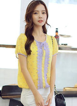 Load image into Gallery viewer, S-XL Yellow Lace Puffy Blouse SP152614 - SpreePicky  - 3