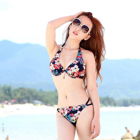 S-XXL 3 Colors Summer Floral Bikini Swimming Suit SP152492 - SpreePicky  - 4