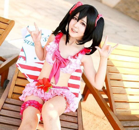 S/L [Love live] Summer Live Nico Yazawa Swimsuit Cosplay Costume SP153865
