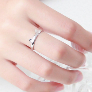 Silver Kawaii Kitty Ring SP164979