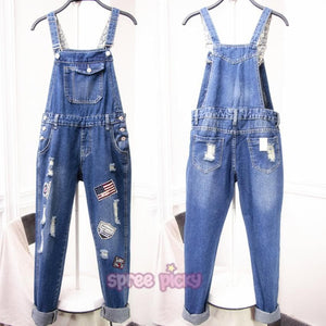 S/M/L/XL Casual Ladies Jean Suspenders SP165430