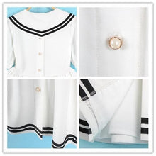 Load image into Gallery viewer, S/M/L 3 Colors Summer Stripe Sailor Dress SP152499 - SpreePicky  - 2
