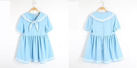 S/M/L 3 Colors Summer Stripe Sailor Dress SP152499 - SpreePicky  - 5
