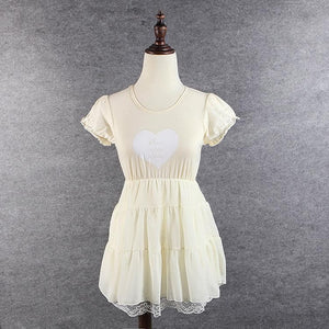 S/M/L 3 Colors Sweet Heart Ruffle Dress SP152372 - SpreePicky  - 4