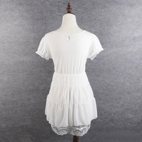 S/M/L 3 Colors Sweet Heart Ruffle Dress SP152372 - SpreePicky  - 3
