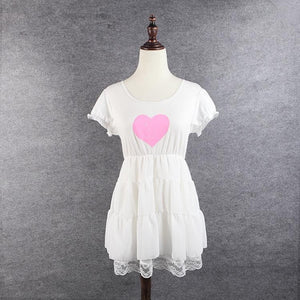 S/M/L 3 Colors Sweet Heart Ruffle Dress SP152372 - SpreePicky  - 2