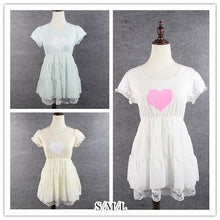 Load image into Gallery viewer, S/M/L 3 Colors Sweet Heart Ruffle Dress SP152372 - SpreePicky  - 1