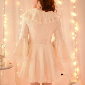 S/M/L Apricot Ruffle Sleeve Princess Dress SP153626 - SpreePicky  - 5