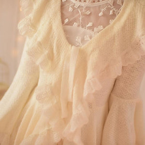 S/M/L Apricot Ruffle Sleeve Princess Dress SP153626 - SpreePicky  - 6
