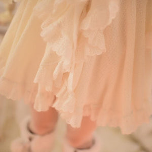 S/M/L Apricot Ruffle Sleeve Princess Dress SP153626 - SpreePicky  - 8