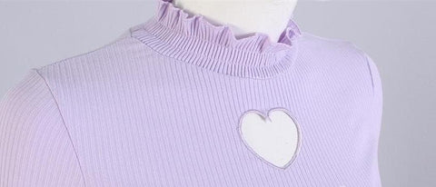 S/M/L Beige/Black/Purple Steal My Heart Sweater SP154275 - SpreePicky  - 8