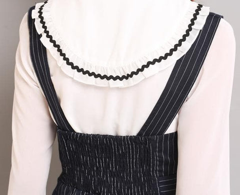 S/M/L Black Stripes Sleeveless Dress SP154285 - SpreePicky  - 9