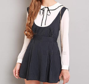 S/M/L Black Stripes Sleeveless Dress SP154285 - SpreePicky  - 5