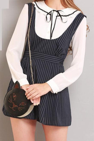 S/M/L Black Stripes Sleeveless Dress SP154285 - SpreePicky  - 4