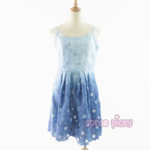 S/M/L Blue And Purple Mixed Elegant Lace Dress SP166185