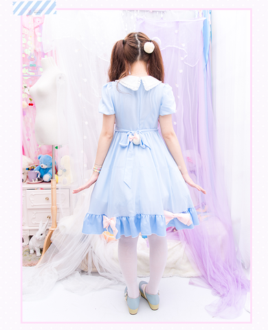 S/M/L Blue Dolly Bunny Dress SP153068 - SpreePicky  - 3