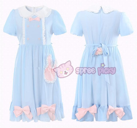 S/M/L Blue Dolly Bunny Dress SP153068 - SpreePicky  - 4