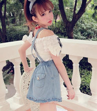 Load image into Gallery viewer, S/M/L Blue Sweet Lace Denim Suspender Dress SP152517 Kawaii Aesthetic Fashion - SpreePicky