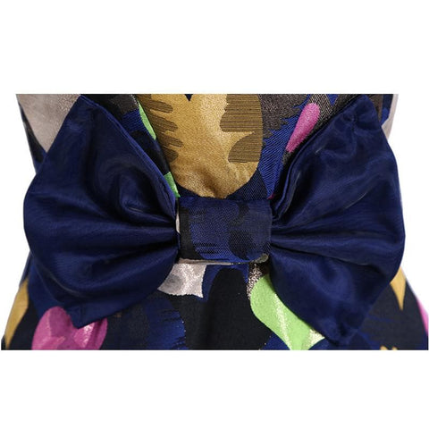 S/M/L Colorful Hearts Sleeveless Navy Dress with Big Bow on Back SP152021 - SpreePicky  - 6