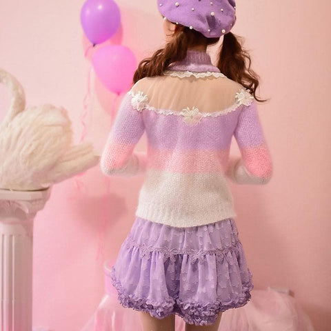 S/M/L Floral Candy Sweater SP153619 - SpreePicky  - 4