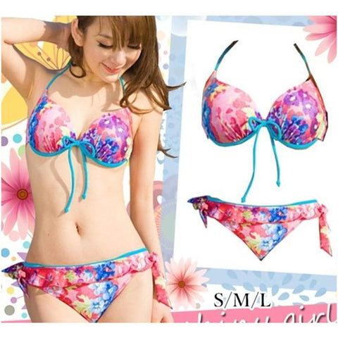 S/M/L Galaxy Pink Bikini 2 pieces set Swimming Suit SP152964