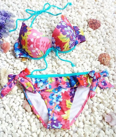 S/M/L Galaxy Pink Bikini 2 pieces set Swimming Suit SP152964 - SpreePicky  - 4