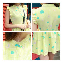 Load image into Gallery viewer, S/M/L Green/Yellow Pastel Daisy Dress SP152226 - Harajuku Kawaii Fashion Anime Clothes Fashion Store - SpreePicky
