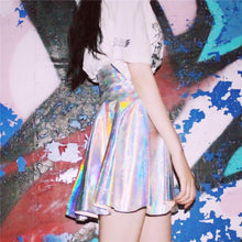 Load image into Gallery viewer, S/M/L Hologram Laser Highwaist Skirt SP167008