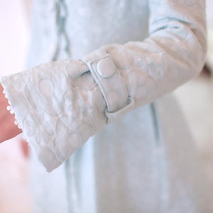 S/M/L Light Blue Princess Bow Lace Coat SP154532 - SpreePicky  - 8