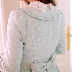 S/M/L Light Blue Princess Bow Lace Coat SP154532 - SpreePicky  - 7
