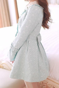 S/M/L Light Blue Princess Bow Lace Coat SP154532 - SpreePicky  - 4
