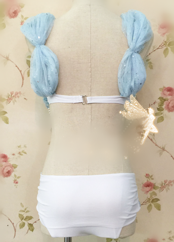 S/M/L Light Blue Sexy Starfish Sea-Maid Bikini Swimsuit SP166841