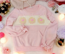 Load image into Gallery viewer, S/M/L Pink/Brown Kawaii Chocolate Cookies Jumper Top SP165489