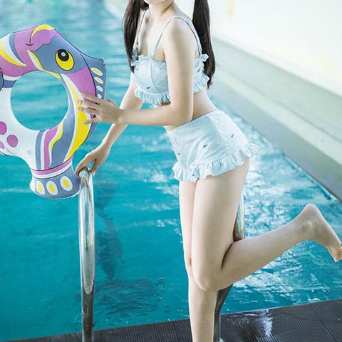 S/M/L Lovely Cat in Fish Heaven Swimsuit SP165704
